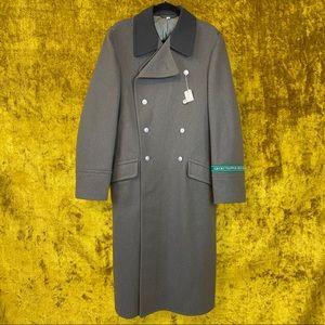 East German Grenztruppen Der DDR Wool Trench Coat